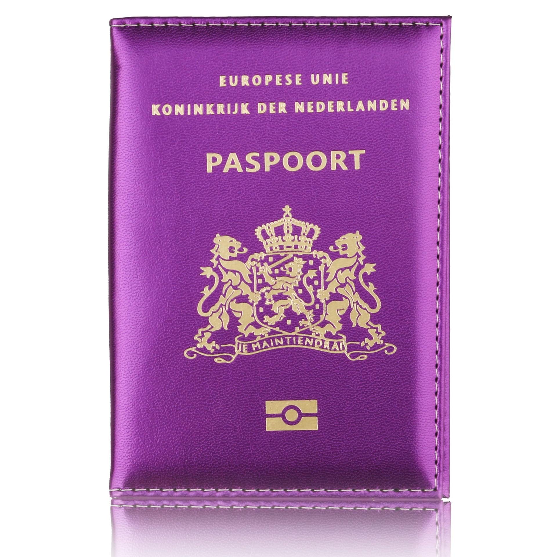 Passport Cover Soft Pu Leather Women Men Passport Holder Paspoort Card Protector