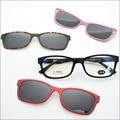 Free Shipping Claretred ultra-light glasses magnet clip sunglasses myopia glasses polarized sunglasses Functional Glasses jkk78