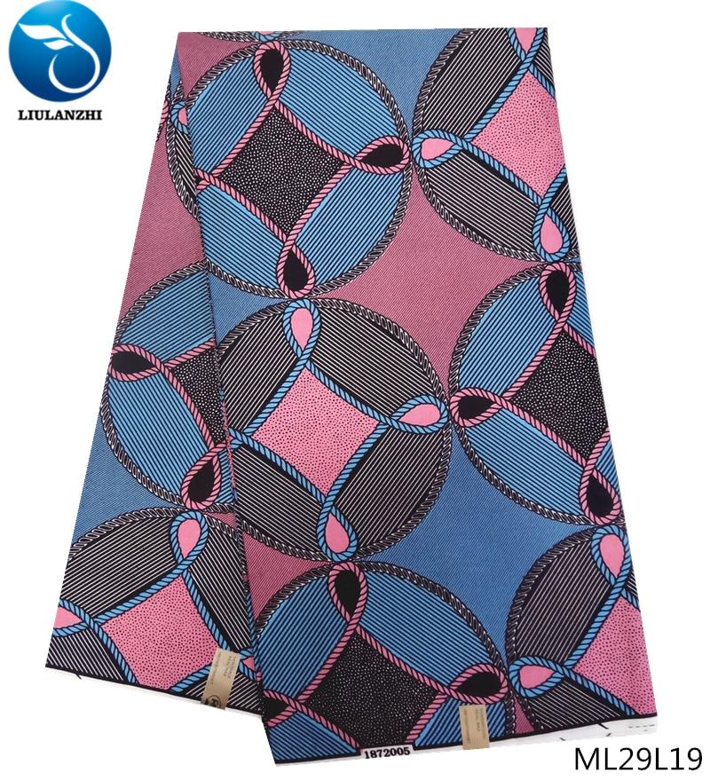 LIULANZHI wax african prints polyester cheaper nigerian ankara fabric ML29L19-36