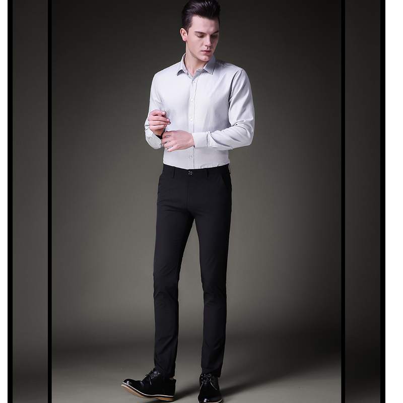 Buy new 2017 high quality goods cotton for White shirt black pants