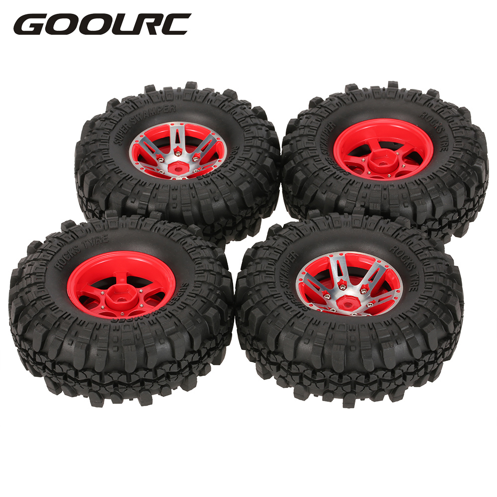 4 unids AX-4020A 1,9 pulgadas 110mm 1/10 Rock Crawler neumáticos con aleación de Beadlock rueda llanta para D90 SCX10 AXAIL RC4WD TF2 RC Coche