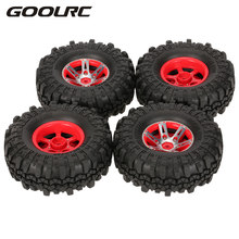 4Pcs AX-4020A 1.9 Inch 110mm 1/10 Rock Crawler Tires with Alloy Beadlock Wheel Rim for D90 SCX10 AXAIL RC4WD TF2 RC Car(China)