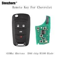 Stenzhorn 3pcs 433Mhz Remote Key For Chevrolet Malibu Cruze Aveo Spark Sail 2010 2011 2012 2013