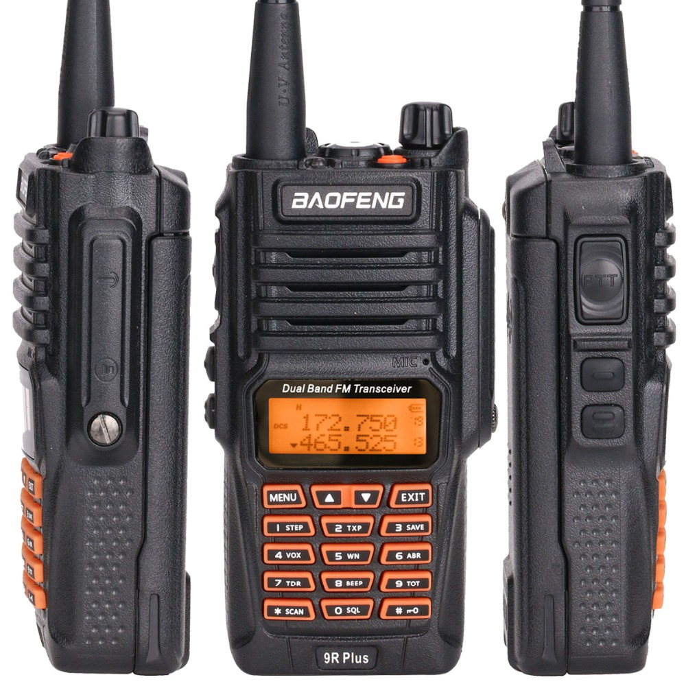 BaoFeng UV-9R Plus Водонепроницаемая портативная рация 8 Вт UHF VHF Двухдиапазонный IP67 HF трансивер UV 9R Ham портативное радио