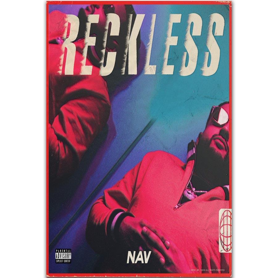 """14x14/"""" 24x24/"""" Nav Reckless Hot New 2018 Rap Hip HOP Music Album Poster Wall Art"""