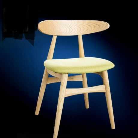Стулья для кафе мебель из массива дерева + хлопок ткань кофе стул обеденный кресло-шезлонг nordic мебель минималистский современный 46*45*75