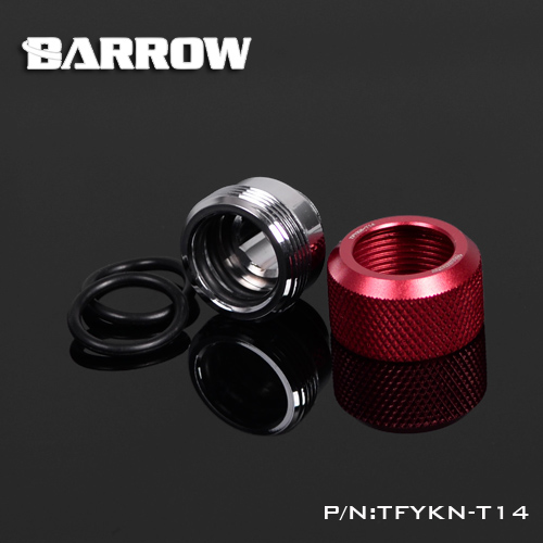 Купить с кэшбэком BARROW Hand Compression OD12mm/OD14mm/OD16mm Hard Tube Fitting Water Cooling Metal Connector Fitting G1/4'' Thread TEPG Acrylic