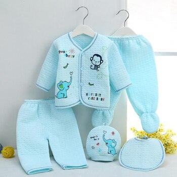 Bekamille 5pcs/set Autumn Winter Newborn sets Baby warm Cotton Girls Boys cartoon suits  infant kids clothing Good quality 1