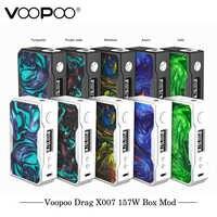 Original VOOPOO glisser 157W TC boîte MOD e cigarette 18650 boîte mod Vape avec nous gène puce contrôle de température résine mod