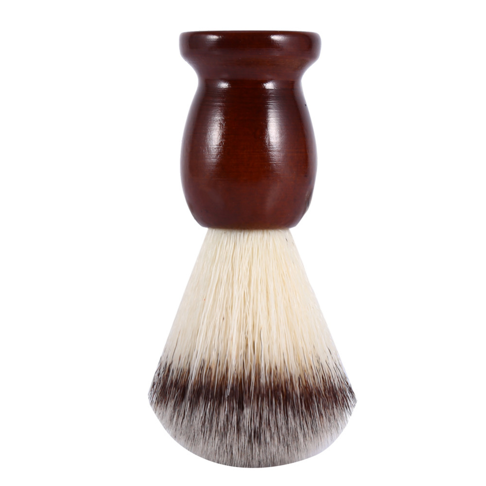 Shaving & Hair Removal Beauty & Health High Quality Professional Mens Shaving Brush With Wooden Handle Pure Nylon For Men Face Cleaning Shaving Mask Cosmetics Tool