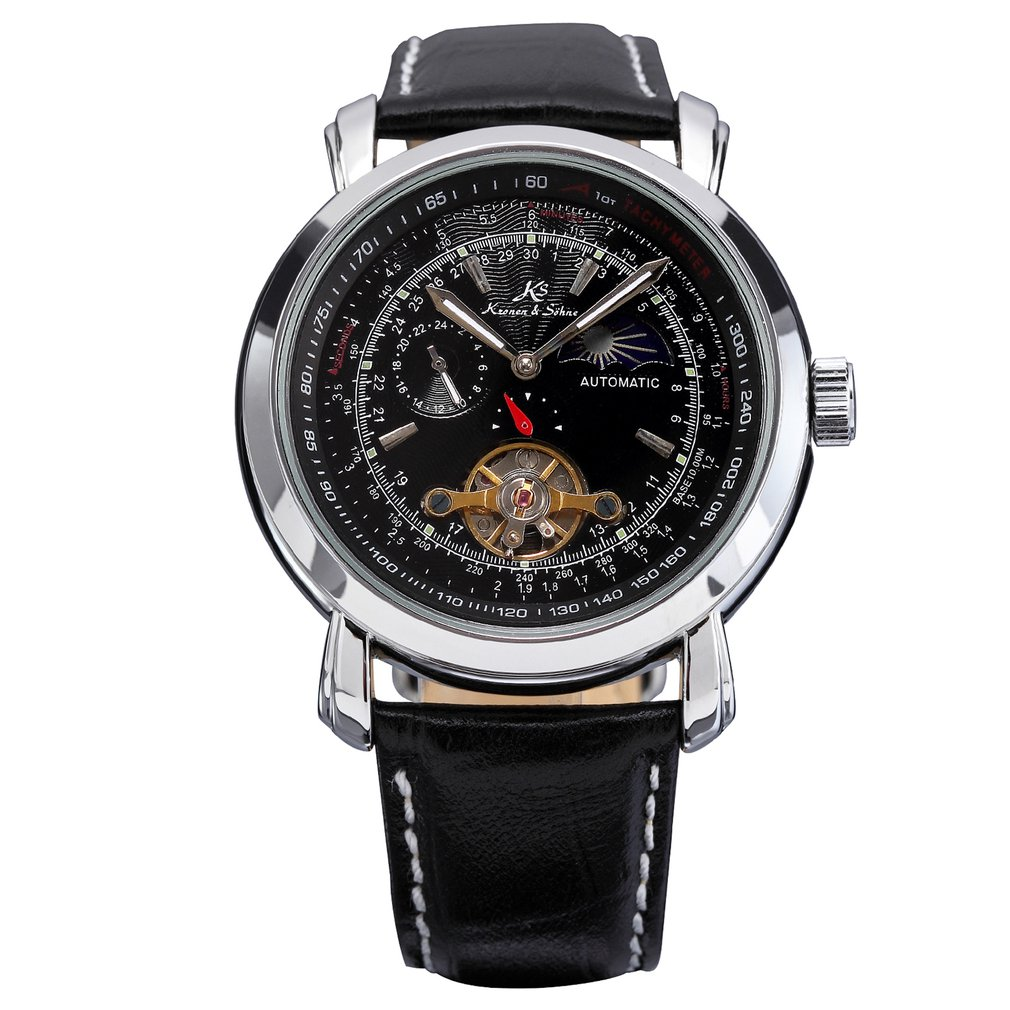 Trendy Design Men Metal Case Wrist Watch Big Round Dial Casual Business Style Mechanical Watches Best Gift HOT SALE