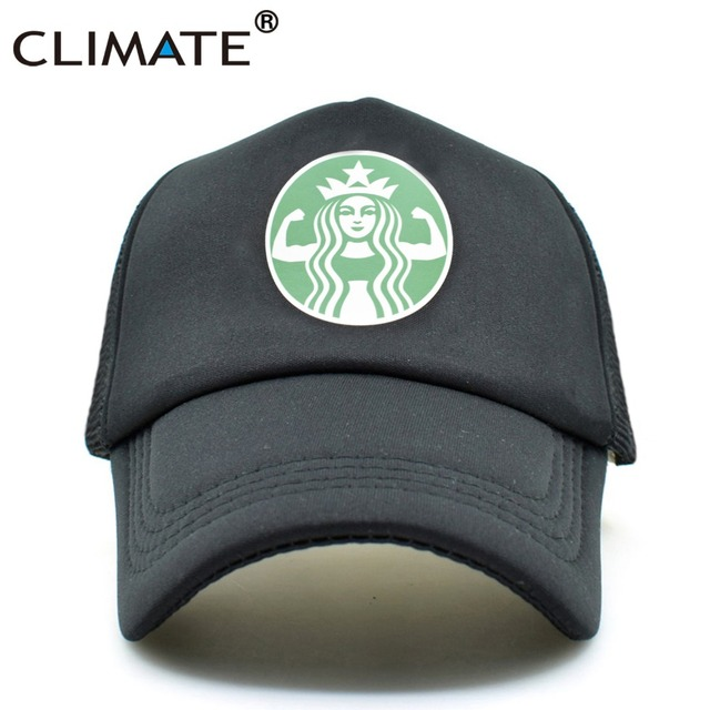 Clima nueva hombres mujeres gorras camionero café Verano Divertido béisbol  casquillo del camionero 7f9db16e5b8