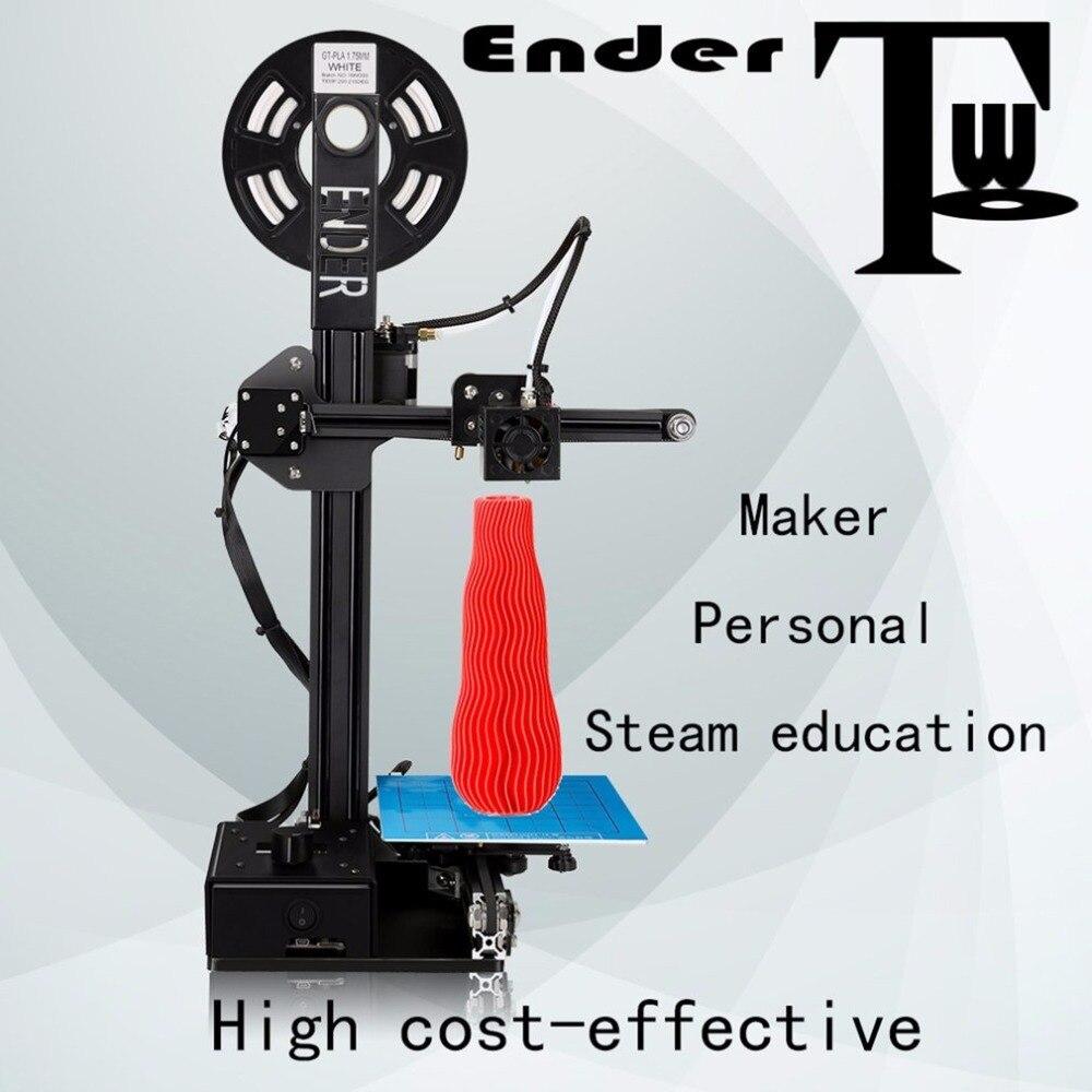 CRÉALITÉ 3D Imprimante Pas Cher Poulie Version kit de bricolage 3D imprimante Métal Cadre 3D kit imprimante bricolage Filaments Ender-2