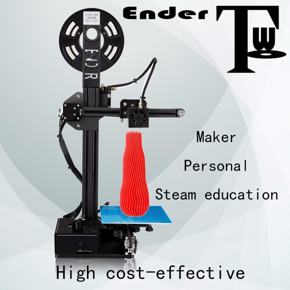 CREALITY 3D Printer Cheap Pulley Version DIY Kit 3D Printing Machine Metal Frame 3D Printer Kit DIY Filaments Ender-2 цена