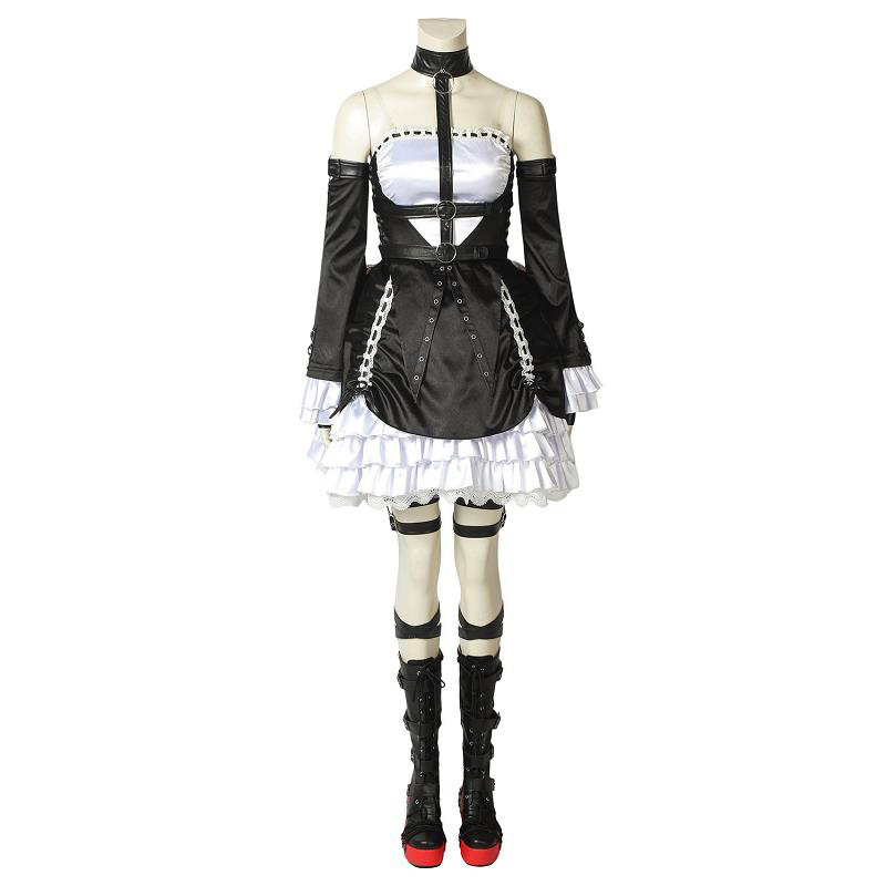 Game Dead or Alive 6 Costume Marie Rose Cosplay Uniform Fancy Dress Adult Women Girls Halloween Outfit with Shoes Custom Made