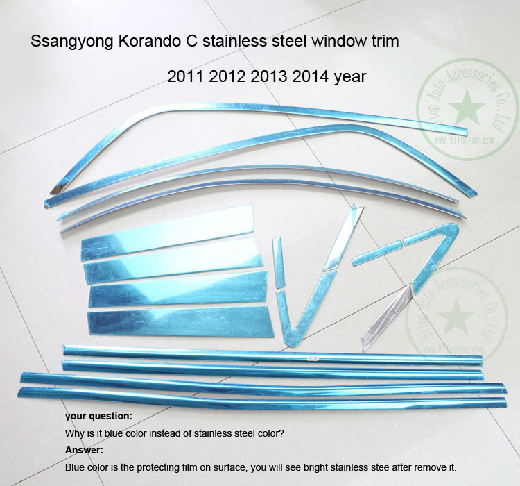 for SsangYong Korando window trim sill window frame cover,2011 2012 2013 2014 2015 2016 2017 2018, 4pcs-18pcs,excellent quality image