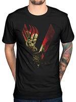 2017 Cool Men Vikings Blood Sky T Shirt Ragnar Lothbrock Rollo History New Merch Design Printed