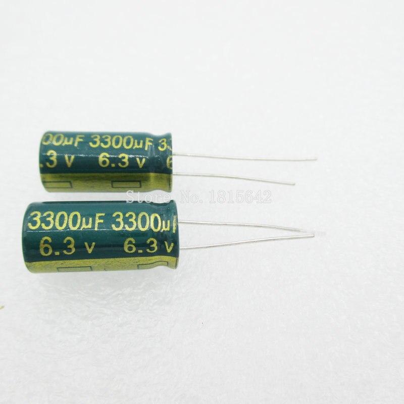 10PCS/LOT 3300uF 6.3V Aluminum Electrolytic Capacitor 10*20 Electrolytic Capacitor 6.3v 3300uf