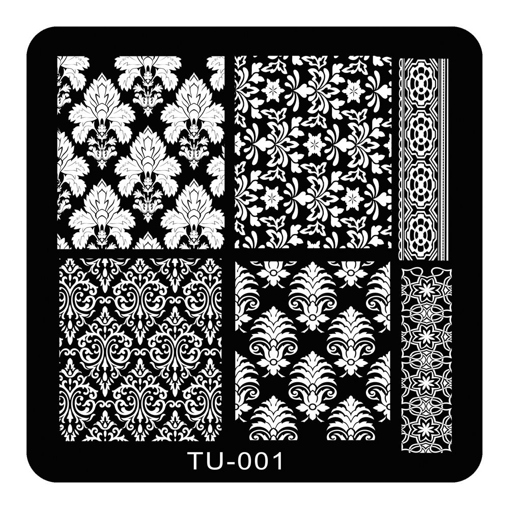 ①5.9cm Abstract Flower Lace Pattern Nail Art Stamp Stamping Plates ...