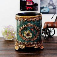 2016 New The Living Room Bedroom Study Hand Painted Ceramic Trash Basket Antique Porcelain