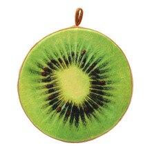 Fruta Suave Almohada Oficina En Casa de Peluche Ronda Cocina Sofá Amortiguador de la Silla Cojín Del Asiento-Kiwi