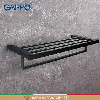 GAPPO Towel bars wall mounted accessories towel double rack bathroom hanger towels holders bathroom holder