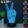 Vitória Vitória a Luz Da Noite 3D RGB Mutável Lâmpada de Humor e LEVOU Luz dc 5 v usb candeeiro de mesa decorativo obter um free controle remoto