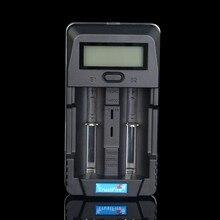 Tr-011 trustfire cargador de batería digital inteligente pantalla lcd banco de potencia con dos ranuras usb puerto para 18650 14500 26650