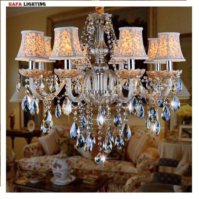 Living Room Cognac Crystal Chandelier Light Bedroom Crystal Light Fixture  Candle Chandelier Light Luxury Crystal Lighting