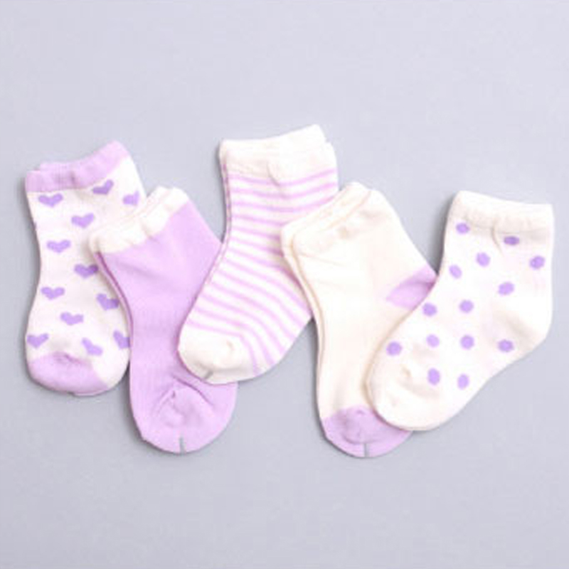 5Pairs/lot Cute Baby Cotton Socks Spring Autumn Newborn Floor Socks Kids Short Sock Breathable Baby Boy Girl Socks 8 Colors