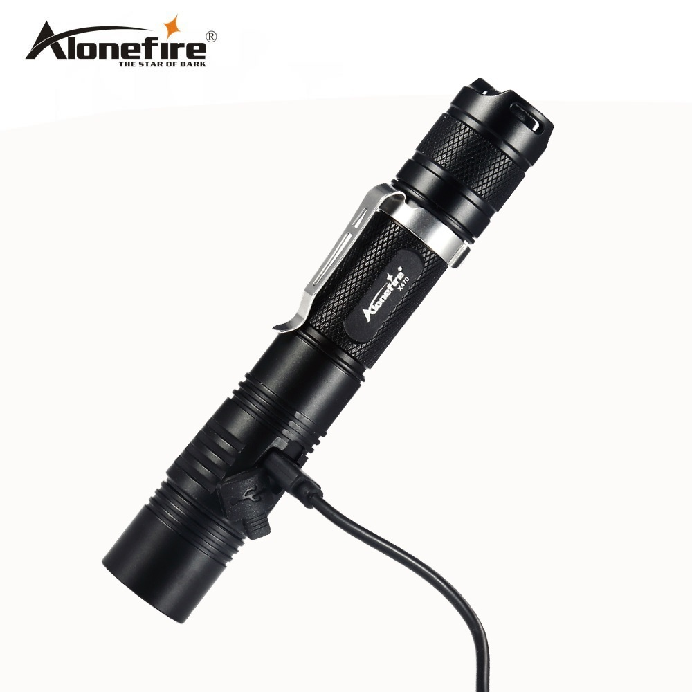 AloneFire X470 Powerful LED flashlight Rechargeable USB Flashlight 18650 Cree XPL 1000 Lumens LED Torch Penlight 6 modes torch украшение новогоднее подвесное волшебство h 9см