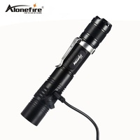 AloneFire X470 Powerful LED flashlight Rechargeable USB Flashlight 18650 Cree XPL 1000 Lumens LED Torch Penlight 6 modes torch