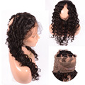 Peruvian Virgin Human Hair 360 Lace Frontal Closure With Band Hair 22.5*4*2 Deep Wave 360 Hair Frontal Closure With Baby Hair