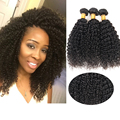 Queen love hair products Afro Kinky Curly Hair 3 Bundles Real Brazilian Kinky Curly Hair Bundles 3pcs Weft Human Hair extension