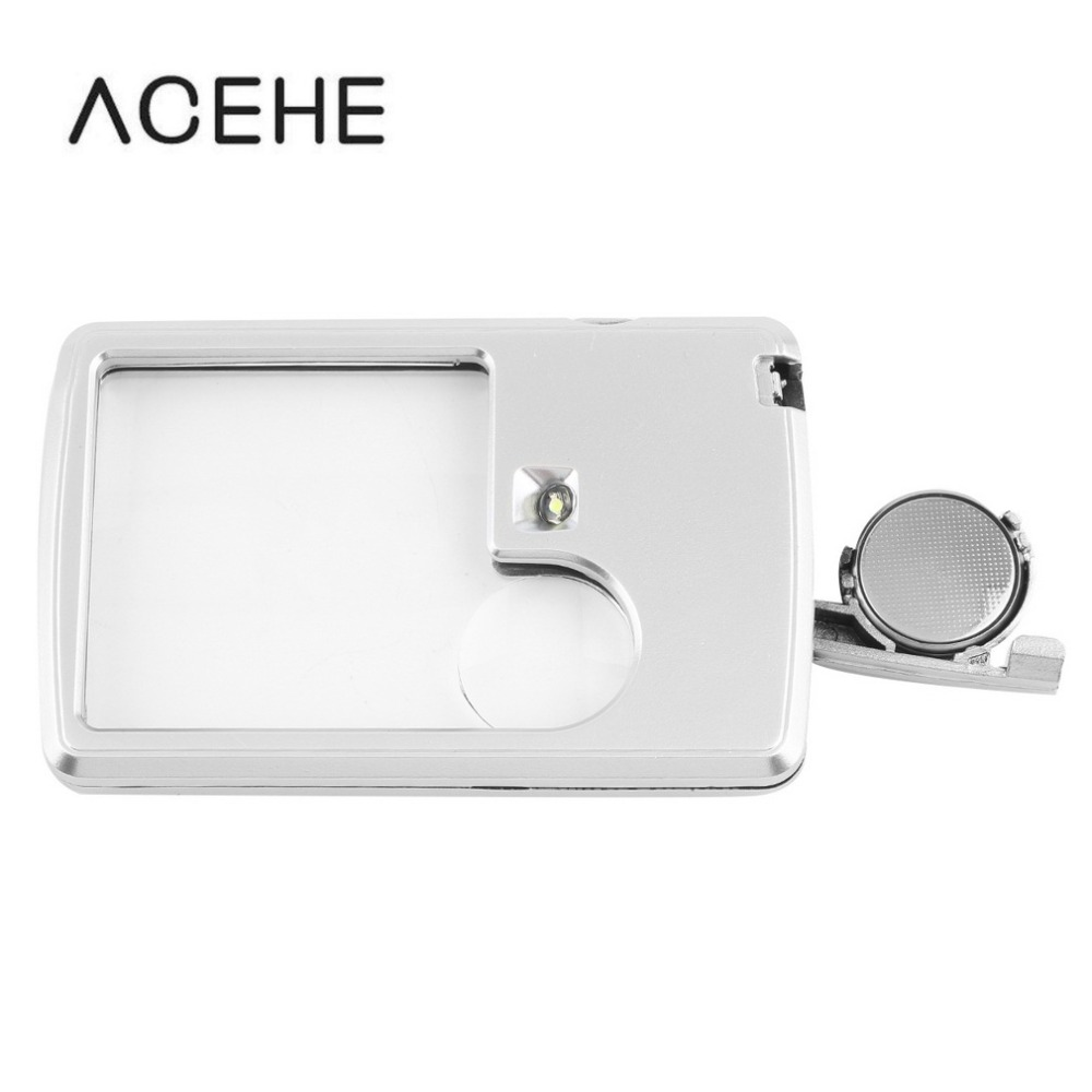 Credit Card 3x 6x Magnifier Magnifying LED Light Jewelry Loupe For reading Good use Selling 2019 Top Sale Dropshipping