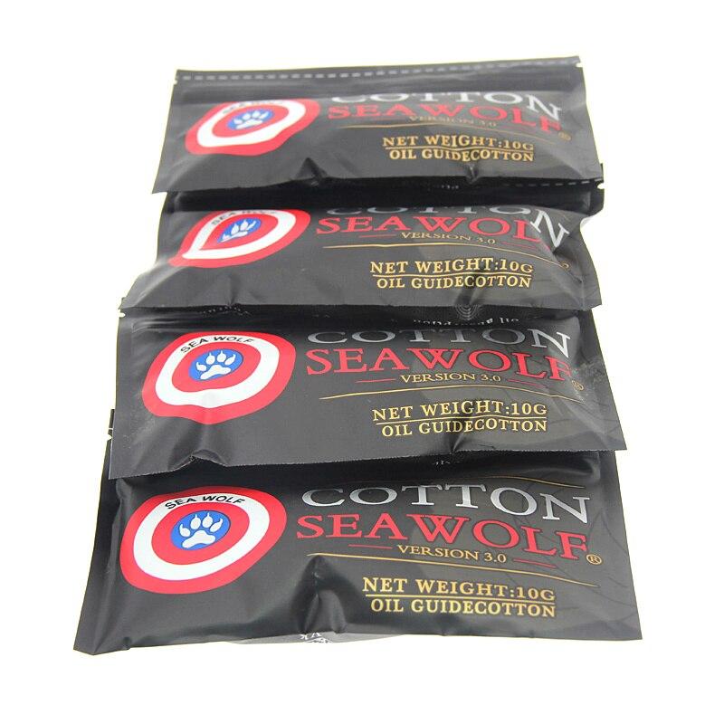 10Bag SEA WOLF Cotton Bacon Vape Cotton Gold Version Bacon For RDA RTA RBA Atomizer Vape Accessories E Cigarettes
