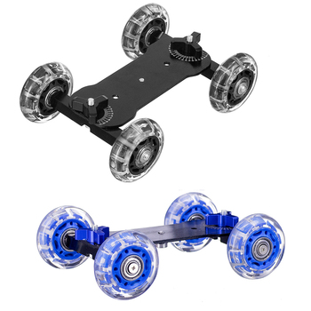 New Tabletop Mobile Rolling Sliding Dolly Stabilizer Skater Slider Magic Arm DSLR Camera Rail Stand Photography Car image