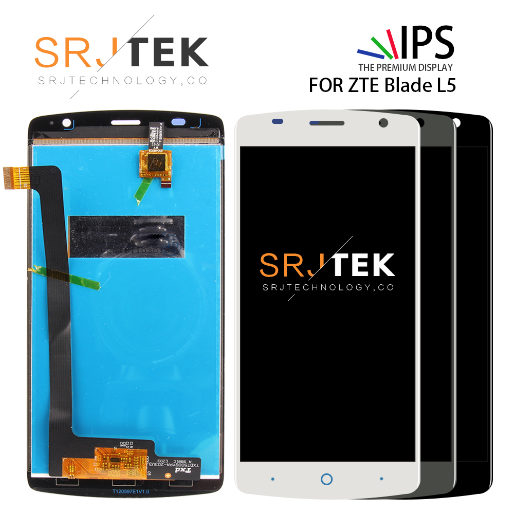SRJTEK 5.0 LCD Display For ZTE Blade L5 Screen Touch Digitizer For ZTE Blade L5 Plus LCD Glass Sensor Assembly ReplacementSRJTEK 5.0 LCD Display For ZTE Blade L5 Screen Touch Digitizer For ZTE Blade L5 Plus LCD Glass Sensor Assembly Replacement
