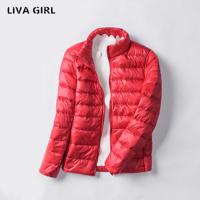 2017 New Brand White Duck Down Jacket Women Autumn Winter Warm Coat Lady Ultralight Duck Down Jacket Female Windproof Parka