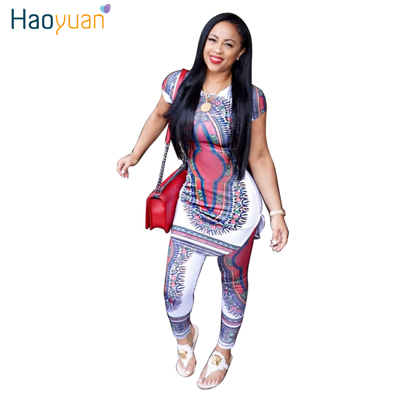 005b2b14c3eb 2017 New Summer Dress Sexy Mini Dashiki Ladies Bodycon Dresses African Print  Two Piece Set Outfits Women Dress Clothing
