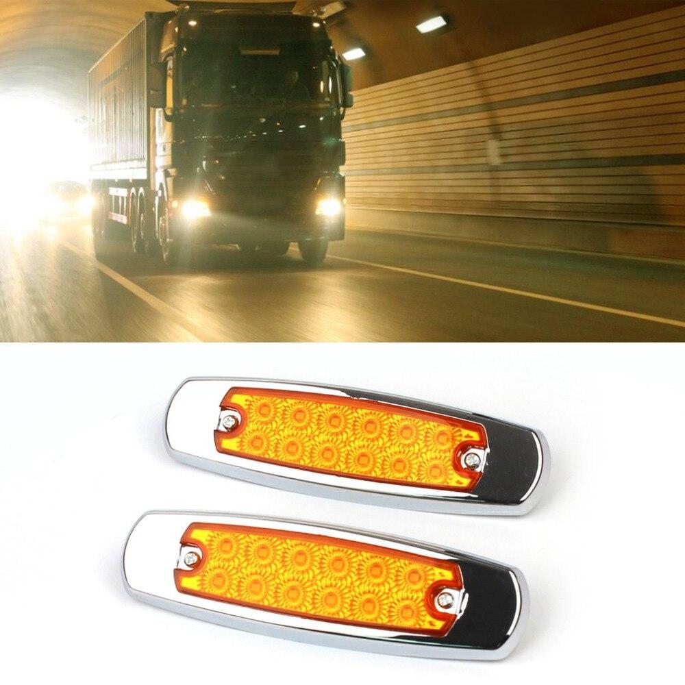 High Quality 12LED Windshield Truck Trailer Side Marker Indicators Lights DC12V Car Truck Trailer Clearance Lights Signal lamp