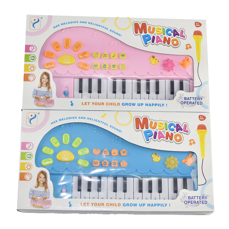 Petty Boyy Electronic Piano Cartoon Design Baby Educational Piano Cute Children Learning Music Machine With Microphone Hot Sell