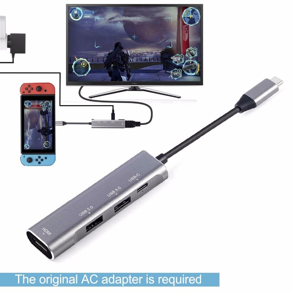 Moyeu de usb c multiport llano répartiteur usb usb3.0 type c hdmi Thunderbolt 3 moyeu usb pour moyeu macbook hdmi Samsung S9/S8 Huawei P20