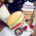 Creative Burger Ice-cream Foods 3D Women Single Shoulder Bag Metal Chain Mini Casual Crossbody Bag Phone Key Organizer Pouch