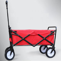 4 wheels outdoor camp cart, fold portable shopping cart, baby carriage with seat belt