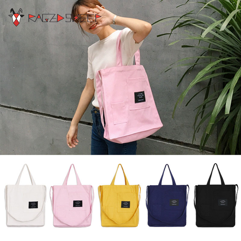 2018 New Fashion Women Shopping Bags Flap Canvas Letter Cotton Ecobag Totes