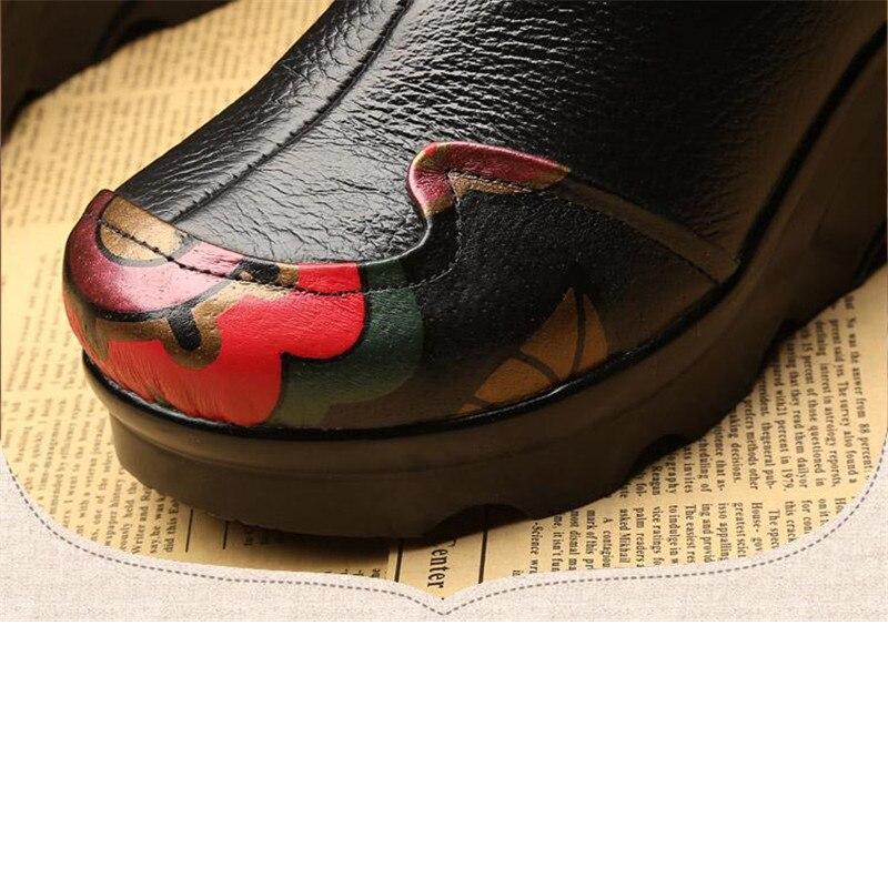 E497 Coins À Chaussures Épais Véritable Nouvelles Yaerni Dames Fond gris Noir Talons Hauts Confortable Cuir 2018 En Casual 8Z6EExwqg