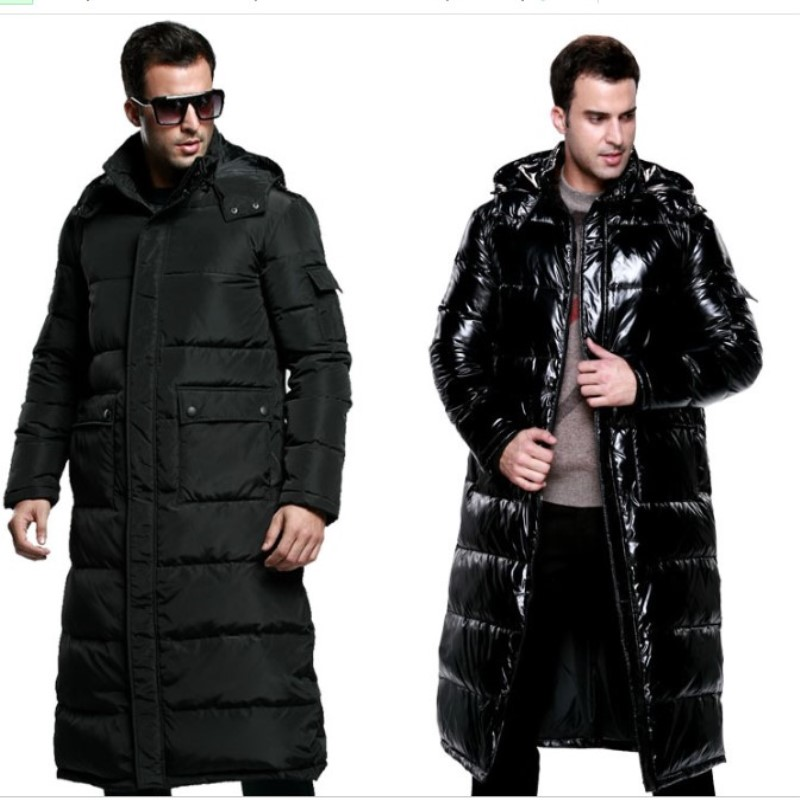 Winter Snowimage Male Ultra Long   Down     Coat   Overcoat Over-the-knee Lengthen Thickening Plus Size Large Fur Collar   Down     Coat