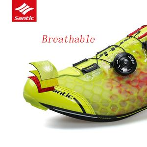 Image 5 - Santic Carbon Fiber Men Cycling Shoes Road Bike Self locking Professional Competition Ultralight PRO Racing Team Bicycle Shoes