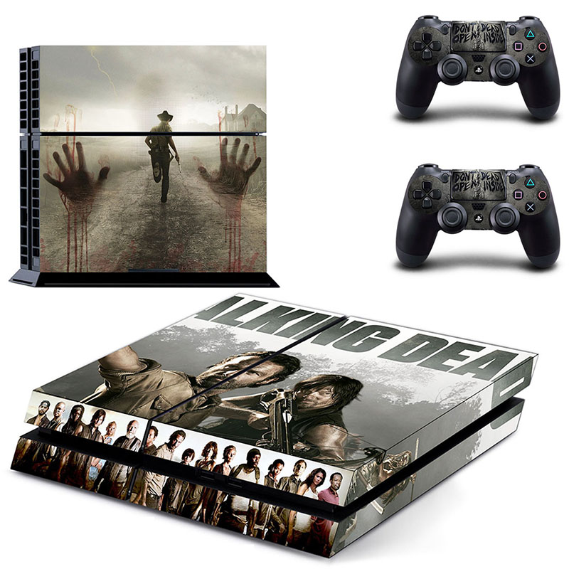 HOMEREALLY Stickers Classic PS4 Skin The Walking Call of Duty WWII Sticker For PS4 PlayStation 4 Console and Controller Skin PS4
